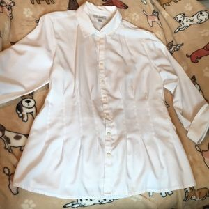 Elegant tailored white blouse by Dress Barn